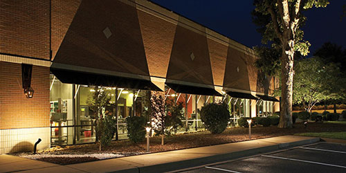 Outdoor lighting at storefront